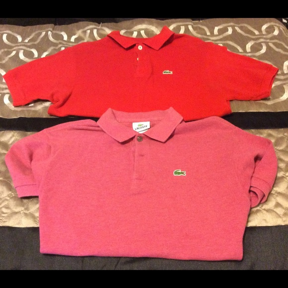 Lacoste Other - New~ lot of 2  boys size 16 polo shirts